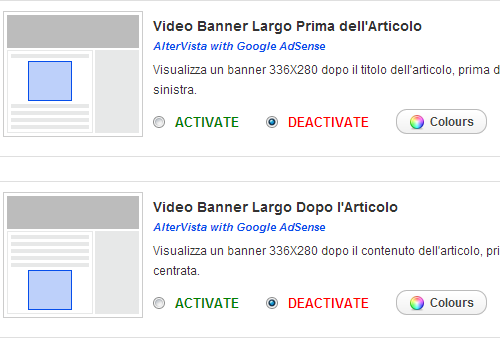 Show Altervista With Google Adsense banners inside your posts