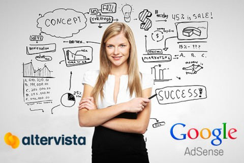 Unique adv system: Altervista With Google AdSense