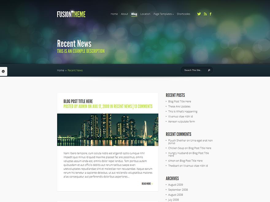 ElegantFusion - Elegant Themes templates free of charge on Altervista