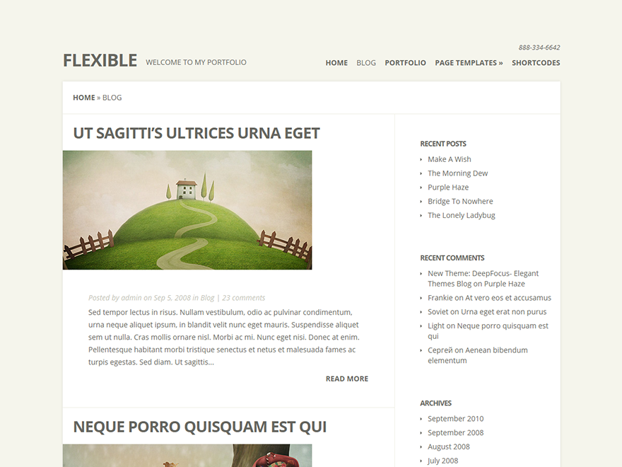 Flexible - Elegant Themes templates free of charge on Altervista