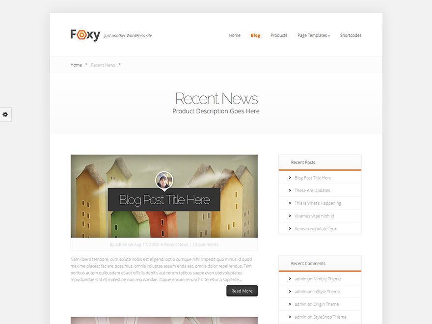 Foxy - Elegant Themes templates free of charge on Altervista