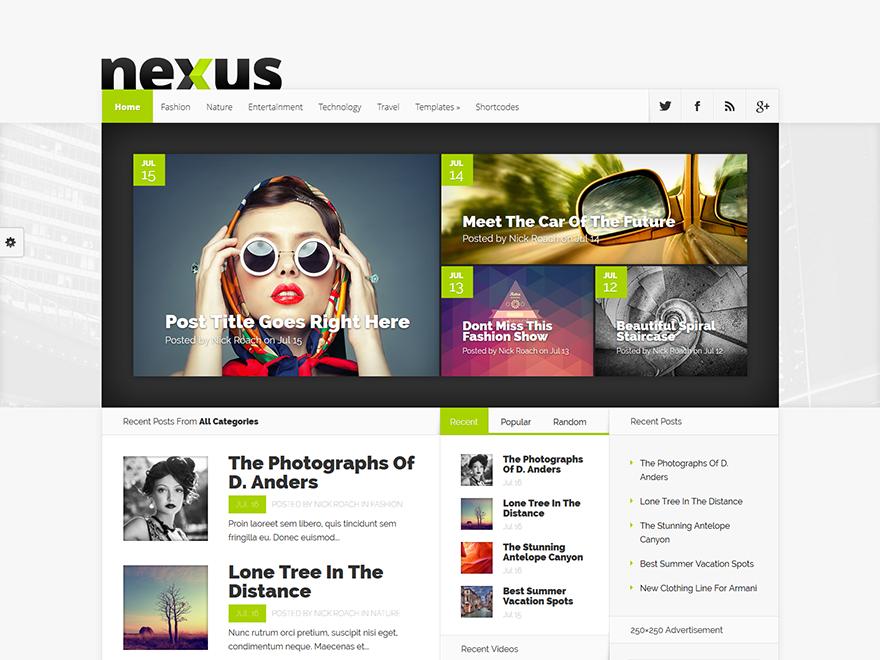 Nexus - Elegant Themes templates free of charge on Altervista