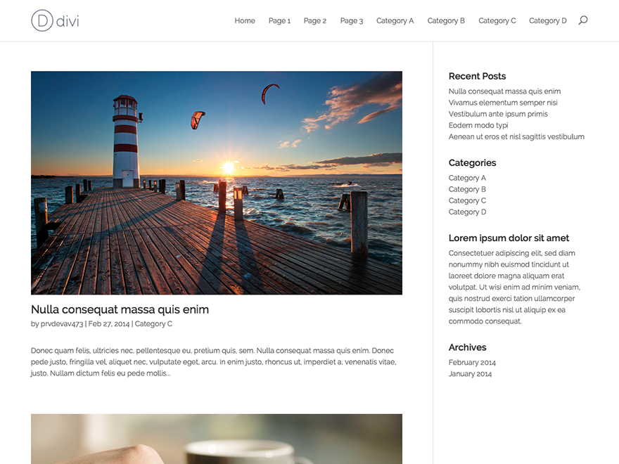 Divi - Elegant Themes templates free of charge on Altervista