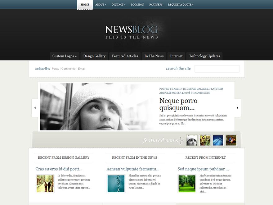 eNews - Elegant Themes templates free of charge on Altervista