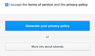 Confirm your data and agree the terms of service