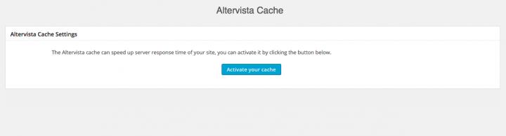 Activate Altervista Cache