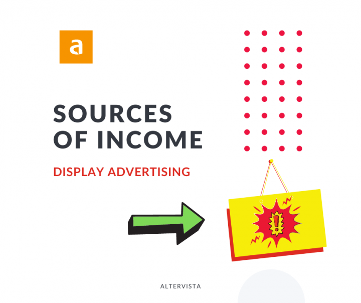 display advertising as a source of revenue